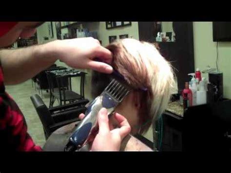 female haircutting videos clipper short hair cut blending thick hair scissors clipper cut
