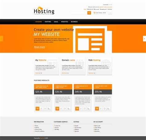 template opencart hosting solutions opencart template 45231