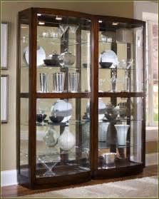 Glass Curio Cabinets Antique Curved Glass Curio Cabinet Home Design Ideas