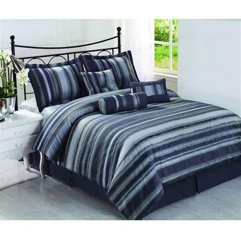 cozy comforters cozy beddings rogers 7 piece striped comforter set king