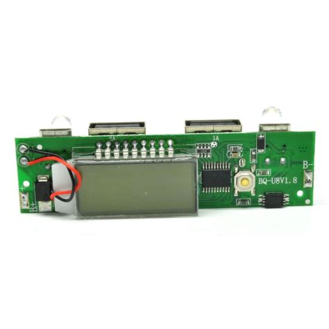 Diy Circuit Board 2 Usb Port Lcd Display 6 Section For Power Bank power bank diy circuit board 2 usb port lcd