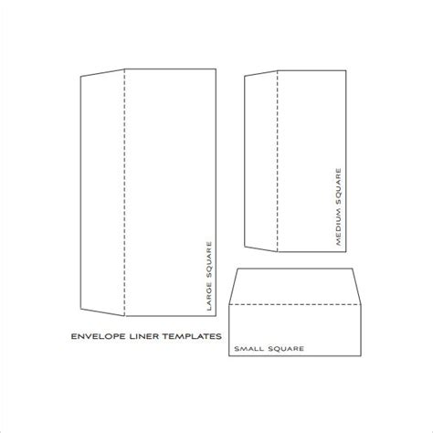 sle envelope liner template a7 envelope template