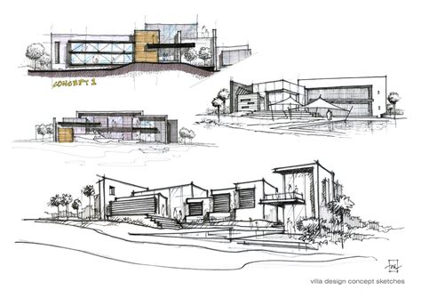 design concept nature architecture villa design concept sketches atelier2 sketching