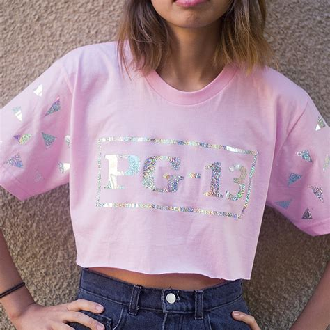 Vans Transparent Pink Mirror pg 13 holographic shirt on the hunt