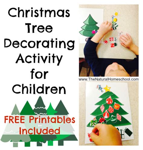 best photos of free printable christmas tree ornaments free printable christmas tree decorating activity for kids