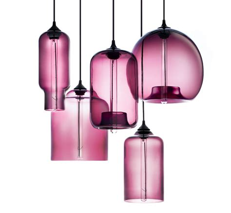 niche modern plum pendant lights featured in martha