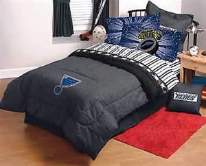 nhl st louis blues bed sheets set 4pc sports bedding