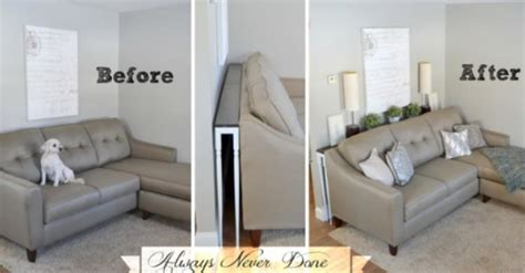 sofa table with ls how to make a sofa table to fit your living room tiphero
