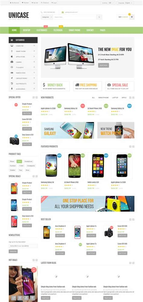 50 Best Ecommerce Website Templates Free Premium Freshdesignweb Best Ecommerce Template