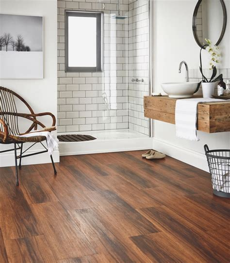 Wood Floor Bathroom Ideas Bathroom Flooring Ideas And Advice Karndean Designflooring Karndean Luxury Vinyl Pinterest