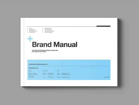 Brand Manual On Behance Brand Manual Template Free