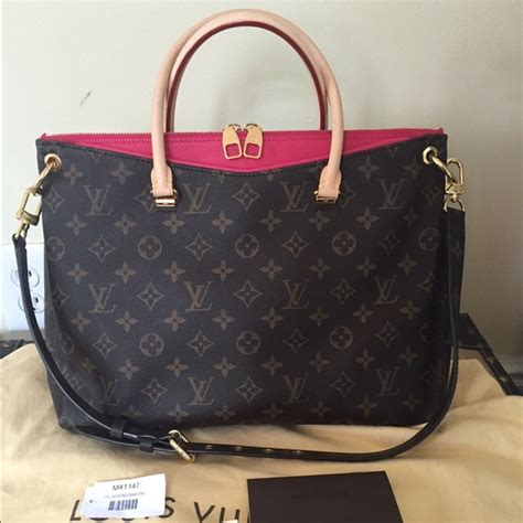 louis vuitton bags authentic monogram pallas pink rare