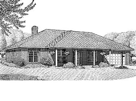 Hipped Roof Highlighted Hwbdo13860 Contemporary House Basic House Plans Hip Roof
