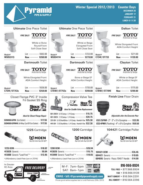 Pyramid Plumbing Supply by Pyramid Pipe Supply Plumbing Sales Flyer Winter 2012 Pg4