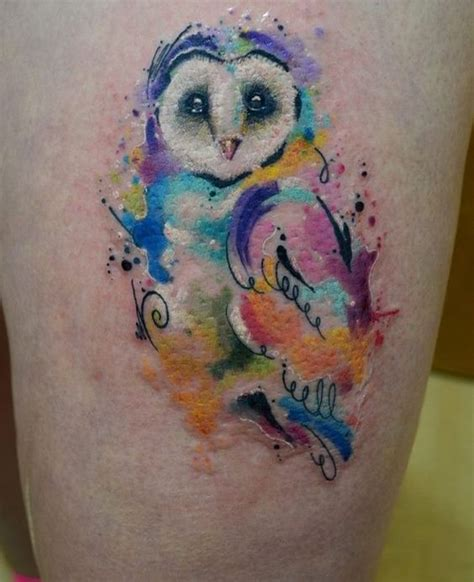 colorful owl tattoos colorful owl tattoos www pixshark images galleries