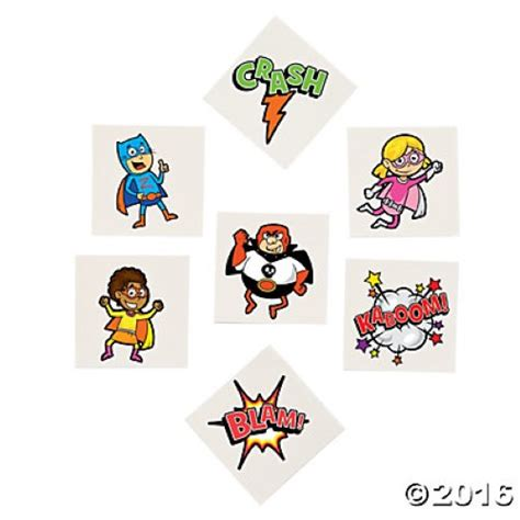 superhero temporary tattoos tattoos each themed supplies