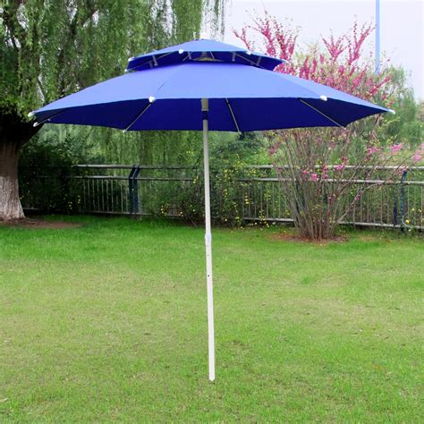 Double Top Sun Shade Umbrella Folding Outdoor Patio Beach Best Patio Umbrella For Shade