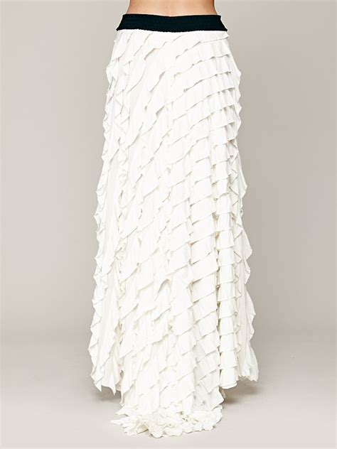 Maxi Lidia Import by Free Fp X Lydia Maxi Skirt In White Lyst