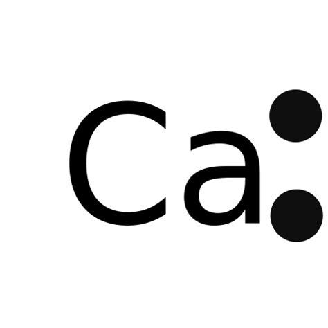 dot diagram for calcium original file svg file nominally 600 215 600 pixels