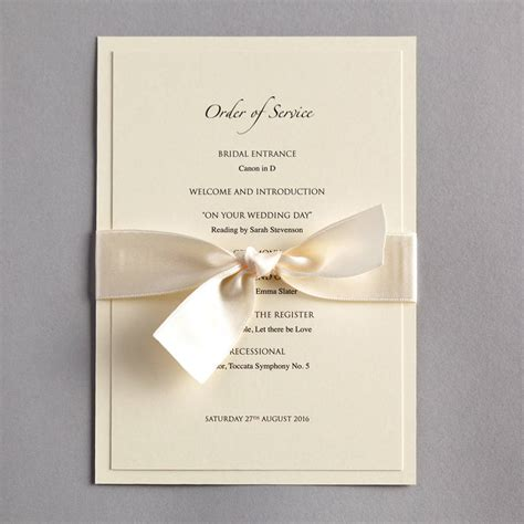 wedding invitation order of classic wedding invitation by twenty seven