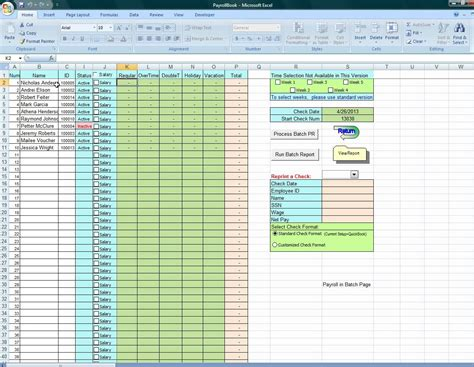 excel employee payroll template vacation accrual spreadsheet laobingkaisuo