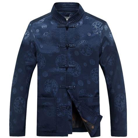 pattern jeans jacket autumn men round dragon pattern shanghai tang clothes