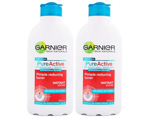 2 x garnier active pimple reduce toner 200ml ebay