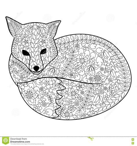 coloring pages adults foxes fox coloring book for adults vector stock vector image