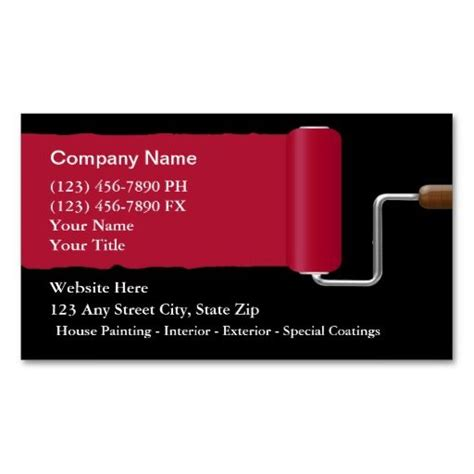 painter business card template 17 best images about painter business cards on