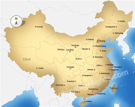 china map maps  chinas top regions chinese cities