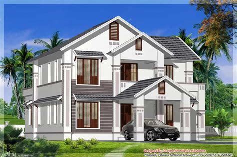 2600 sq feet kerala model house house design plans sloping roof kerala home design at 2400 sq ft
