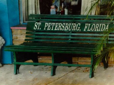 green bench st petersburg fl where did st pete s green benches go st pete fl patch