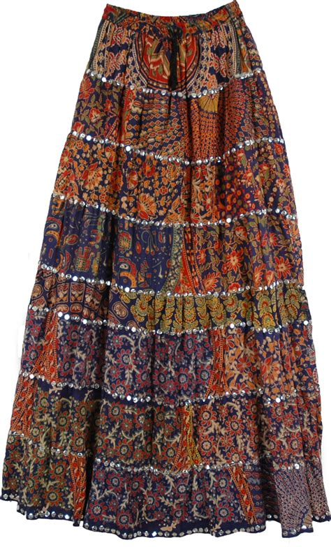 Patchwork Hippie Skirts - patchwork boho skirt big sequin skirts