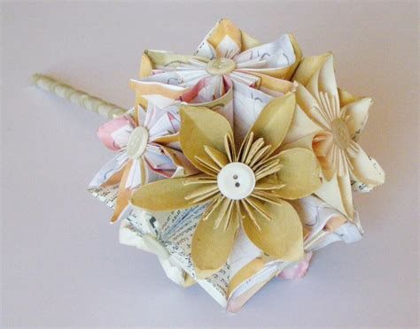 Handmade Bouquets - paper flower bouquet paper wedding bouquet bridal