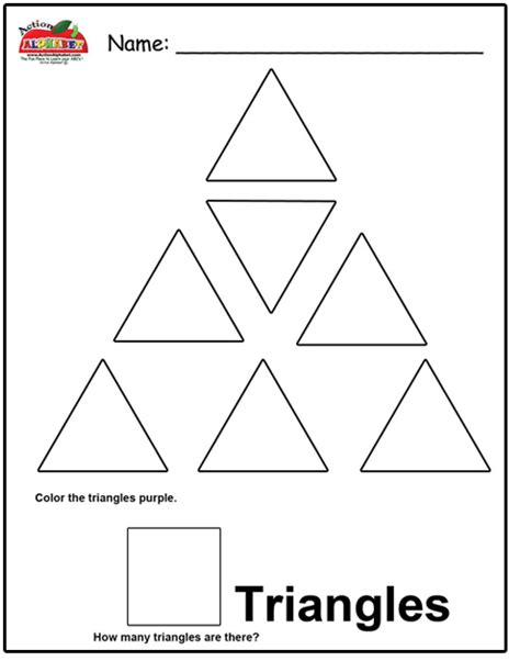 triangle printable worksheets for preschoolers 7 best images of triangle worksheets for preschool
