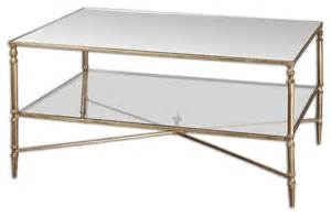Glass Mirror Coffee Table Henzler Mirrored Glass Coffee Table Traditional Coffee