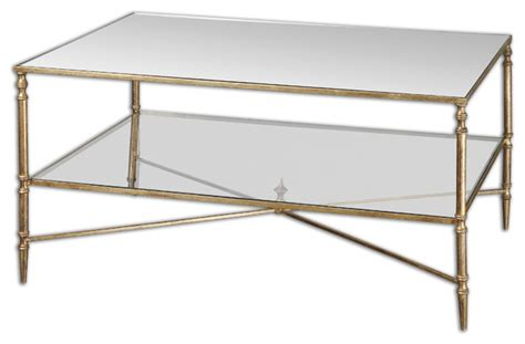 henzler mirrored glass coffee table traditional coffee