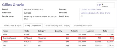 hr overtime request and payroll odoo apps