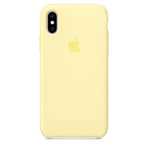 iphone xs silicone mellow yellow apple