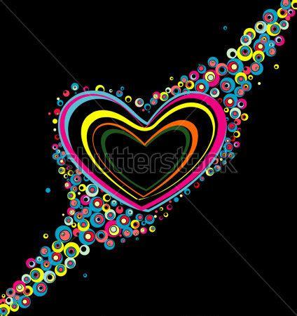 imagenes corazon en negro corazones de colores con fondo negro imagui