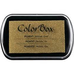 color box ink colorbox ink pad gold thestmaker