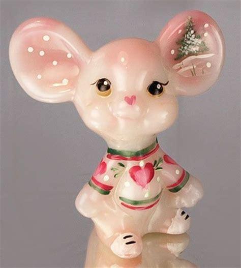 mouse for glass 3 fenton art glass mouse in rosalene handpainted