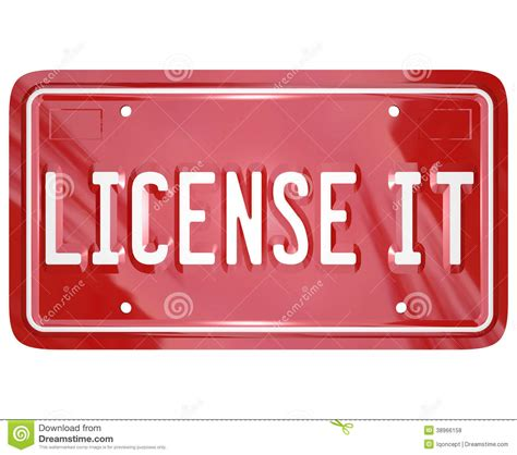 Permission Letter To Keep License Plates License It Vanity Plate Approval Authorization Stock Illustration Image 38966158