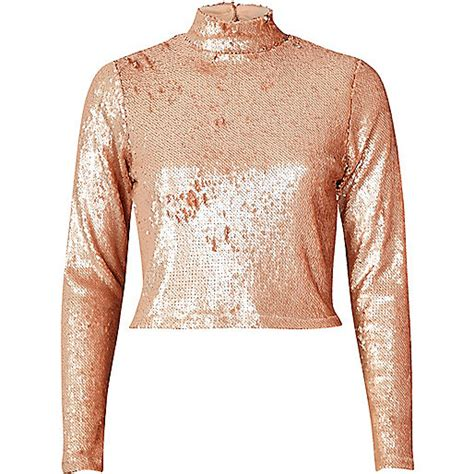 Turtle Neck Crop Top Pink blush pink sequin turtleneck crop top crop tops