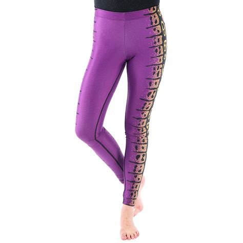 patterned sport leggings original purple snake pattern women stretch fitness