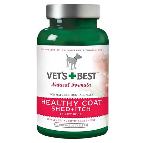 Supplements For Shedding Dogs by Vet S Best Healthy Coat Shed Itch Supplement