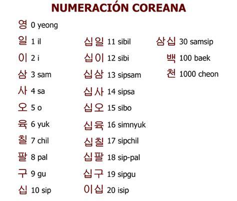 imagenes de letras coreanas y su significado numerales coreanos escuelapedia recursos educativos