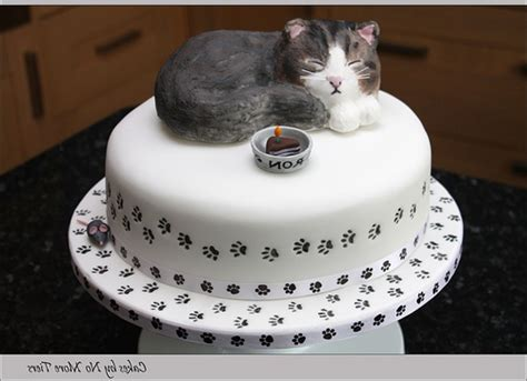 Romantic Home Decorating Ideas by Sculpted Cat Cake With Edible Cat Topper Gallery Picture