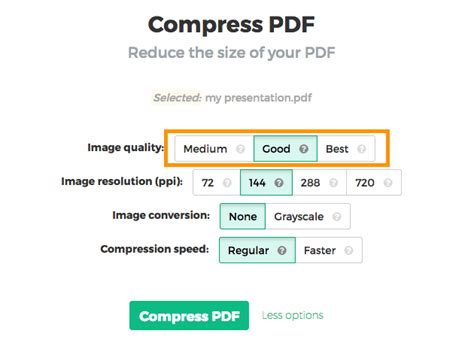 compress pdf according to size compress pdf online