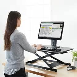 Sit To Stand Desk Converter Amazonbasics Height Adjustable Sit Stand Desk Converter Import It All